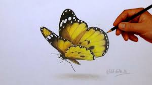 drawing a butterfly simple and easy steps youtube