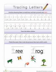 tracing lowercase letters f t worksheets preschool and letter