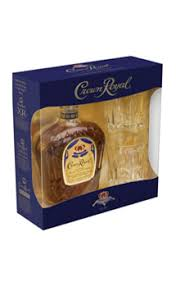 crown royal gift set crown royal canadian whisky gift set with 2 cocktail glasses