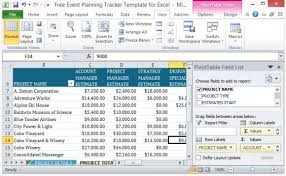 Tracking Project Costs Template Excel Free Event Planning Tracker Template For Excel