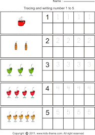 tracing numbers 1 through 10 tracing and writing number 1 to 5