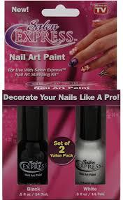 amazon com salon express nail art paint 2 colors black