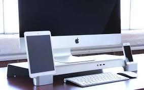 Upright Desk Organizer Iforte Uniti Stand Desk Organizer For Imac And Apple Display