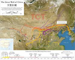 Chinese Map Great Wall Of China Map Map Of The Great Wall Of China