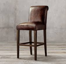 hudson bar stools roll back leather stool