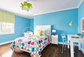 teenager study room with blue walls good interior paint color