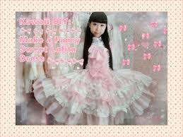 kawaii diy how to make a fancy sweet dress for anime