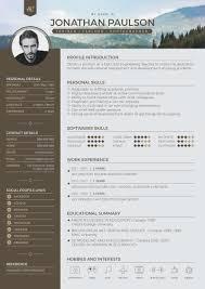 Resum Cv Free Professional Modern Resume Cv Portfolio Page U0026 Cover