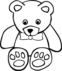 coloring page teddy bear coloring pages kids
