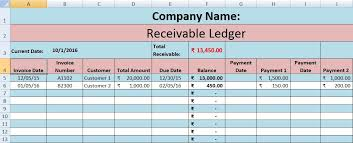 aging report template accounts receivable excel template excel data pro