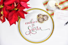 diy vinyl cookies for santa plate