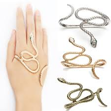 crystal snake bracelet images Goth punk snake crystal hand palm bracelet bangle cuff fancy ring jpg