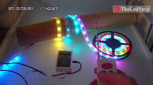 colored led light strips and fritzing project arduino controlled