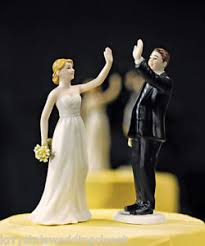high cake toppers high five groom wedding cake topper custom