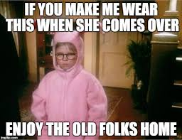 You Make Me Smile Meme - christmas story imgflip