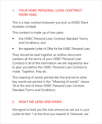 sample loan contract 7 documents in pdf