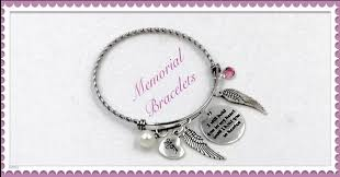 Bereavement Gifts Silver Memorial Bangle Bracelet Personalized Memorial Remembrance