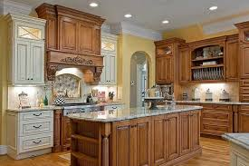 Wood Stained Cabinets Trend Alert Mixed Cabinet Finishes In The Kitchen