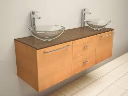 decorative floating bathroom sink on bathroom with concrete