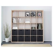 Room Dividers Shelves by Kallax Shelving Unit White Stained Oak Effect 182x182 Cm Kallax