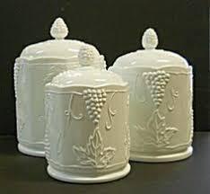 grape canister sets kitchen vintage indiana glass company harvest grape or colony harvest milk