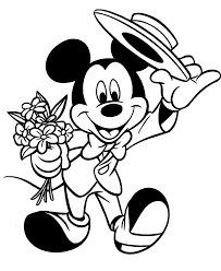 cartoon printable mickey and minnie mouse coloring pages
