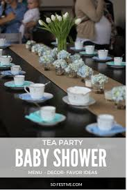 tea party baby shower so festive