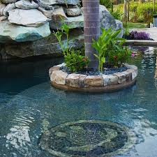 Turtle Planter Lagoon Pool With Slide Island Planters Large Grotto And Spa