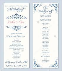wedding bulletin sles wedding invitation programs templates wedding invitation