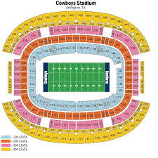 4 tickets side by side lower section of at t stadium section