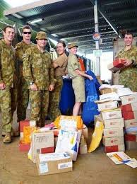 how to send care package to australian troops for free