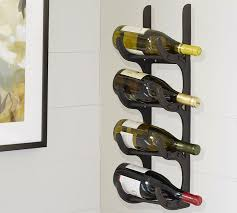 Pottery Barn Wine Racks Vintner U0027s Wall Mount 4 Bottle Wine Storage Pottery Barn