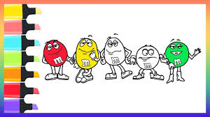how to draw m u0026ms chocolate coloring pages for kids nursery rhymes
