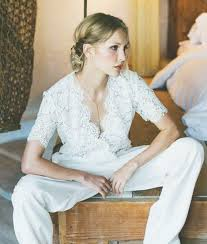white jumpsuit wedding gorgeous bridal jumpsuits that ll convince you to skip the dress