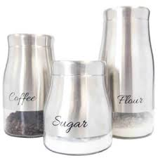 stainless steel kitchen canister sets stainless steel canisters wayfair