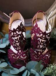 shoes burgundy laser cut wedding shoes wheretoget - Burgundy Wedding Shoes