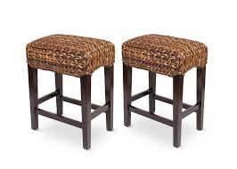 Furniture Bar Stool Chairs Backless by Seagrass Backless Counter Stool Set Of 2