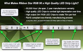 fry s led light strips ul listed rgb led strip light ribbon strip rgb 90 118 3m