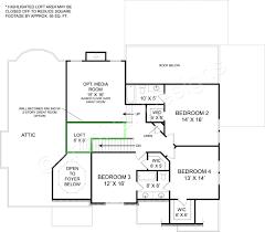 Attic Floor Plans by Tillman Falls Traditional Floor Plan European House Plan