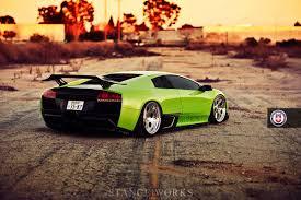 Lamborghini Gallardo Old - hre retro style wheels on the murcielago