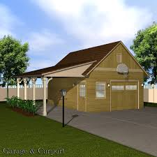Garage With Carport Garage U0026 Carport Set 3d Models Richabri