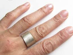 large silver rings images Large 8 mm sterling silver ring satin brushed finish catherine jpg