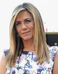 a side part with long hair and a swoop and a cross jennifer aniston long hairstyle straight haircut with long side