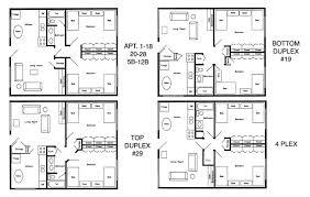 4 Plex Apartment Plans Rates