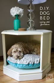 dog beds made out of end tables a clever way to repurpose an old side table repurpose clever and dog