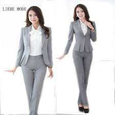 aliexpress com buy womens formal work suit pants black grey