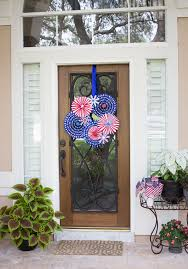 Fourth Of July Door Decorations 4th Of July Wreath Design Improvised