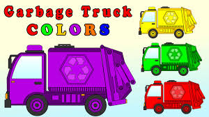 learn colors with garbage truck garbage truck coloring page for