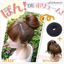 donut bun hair littlemoon japanese hair accessories rakuten global market