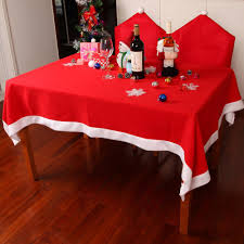 Dining Room Tablecloths Tablecloths Chair Cover Set Christmas Decoration Red Table Cloth